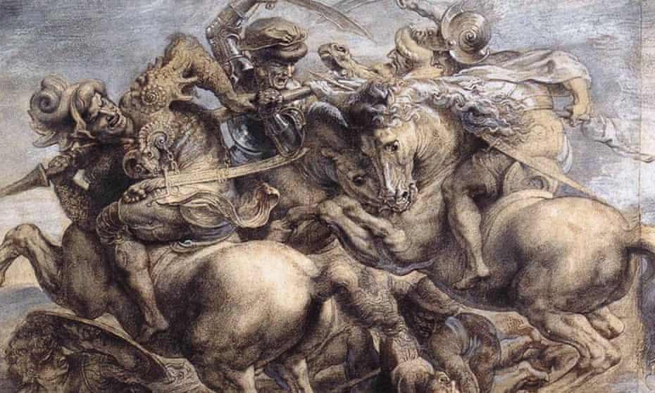 a study for Leonardo da Vinci's The Battle of Anghiari.