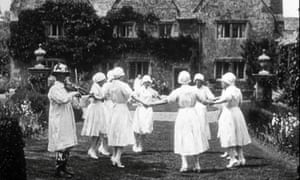 A dance team captured in film from 1926