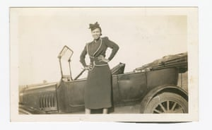 Odessa Jones Murray posing in front of a car in 1940.
