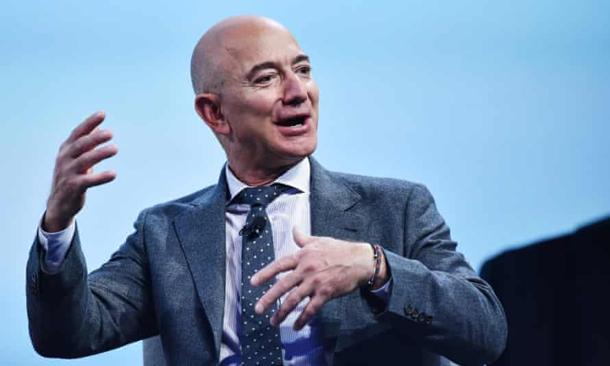 Jeff Bezos in November. The world's richest man has seen his fortune swell by $13bn in April.