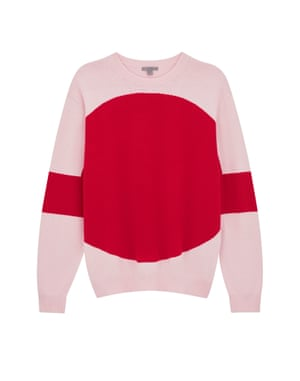 Pink and red jumper