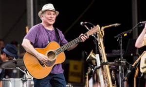Rhymin' simon … Paul Simon onstage at the New Orleans Jazz and Heritage festival