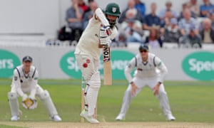 Moeen Ali bats for Worcestershire at Scarborough.