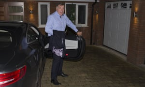 Sam Allardyce arrives back at his home in Bolton.