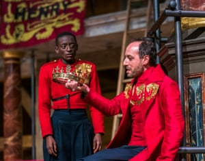 Sarah Amankwah (Prince Hal) and Philip Arditti (Henry lV) in Henry lV Part ll or Falstaff