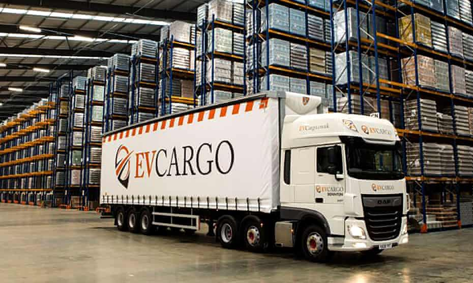An EVCL Chill lorry in a warehouse