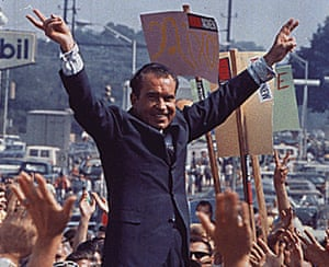 Richard Nixon campaigning in the late 60s,
