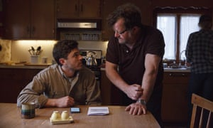 Kenneth Lonergan (right) directs Casey Affleck during the filming of Manchester By The Sea.