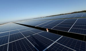 A solar farm in Cestas, France. The European Commission's director of climate strategy says he is open to the idea of strengthening Europe's 2030 carbon target.