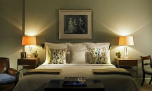 And so to bed…: one of the bedrooms in the Goodwood hotel