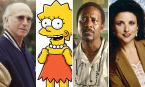 Screen idols … Larry David, Lisa Simpson, Lester Freamon and Elaine Benes.