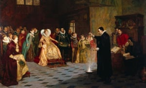 John Dee painting originally had circle of human skulls, x