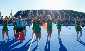 Ireland's players applaud their fans in the crowd. Ireland were the second-lowest ranked team in the tournament but made a surprise run to the final.