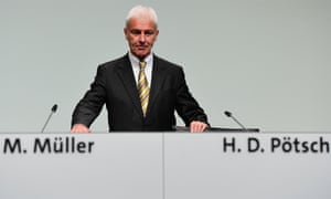VW CEO Matthias Muller at the German carmaker's AGM in Hanover