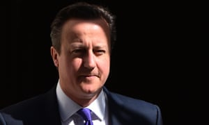 David Cameron leaves 10 Downing Street in London.