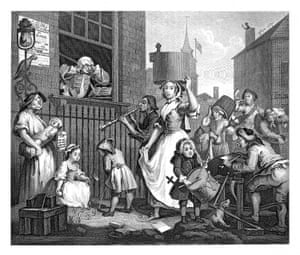 The Enraged Musician (1741) by William Hogarth.