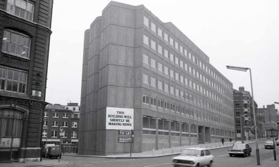 119 Farringdon Road shortly before the Guardian moved, 1976.