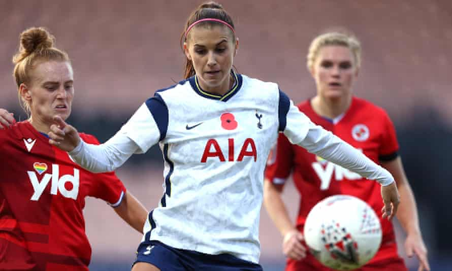 Alex Morgan helped Spurs to their second point of the season