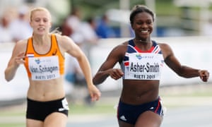 Dina Asher-Smith, seen here winning the gold medal in the 200m at the 2013 European Athletics Junior Championships.