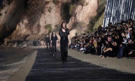 The Saint Laurent Men's spring/summer 2020 fashion show at Paradise Cove beach in Malibu.