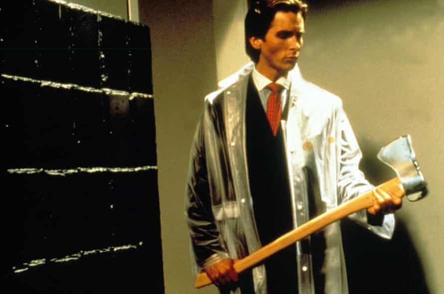 Christian Bale as Patrick Bateman in the film adaptation of American Psycho.