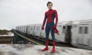 Tom Holland in Spider-Man: Homecoming. He credits director Jon Watts with 'grounding a character who has been flying so high in the sky for so long'.