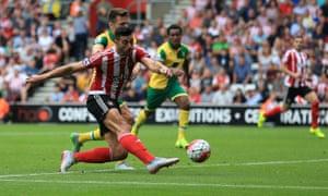 Southampton's Graziano Pellè sweeps home.