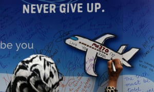 MH370 remembrance banner
