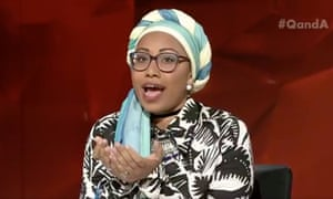 Youth Without Borders founder and Sudanese-born engineer Yassmin Abdel-Magied on the ABC's Q&A program.