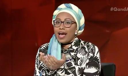 Yassmin Abdel-Magied on ABC's Q&A