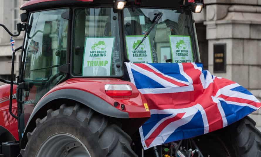 A tractor driver takes part in a protest against the agriculture bill in London in July