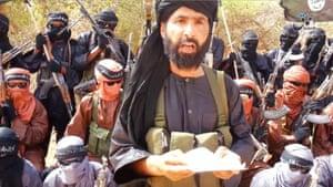 Abu Walid al-Sahraoui, leader of the Islamic State in the Greater Sahara, and his followers