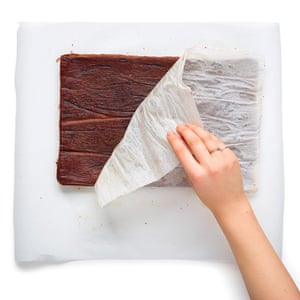 Gently turn out the sponge on to greaseproof paper