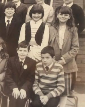 Stephen McConomy, bottom right, in a school photograph.