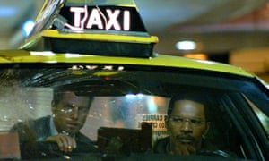 Tom Cruise and Jamie Foxx in Collateral.