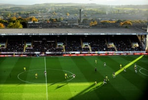 A scenic view of Turf Moor as Burnley beat Everton