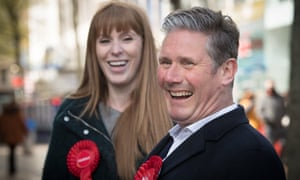 Keir Starmer and Angela Rayner campaigning on 5 May in Birmingham
