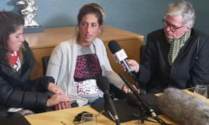 Romina Sala at a press conference