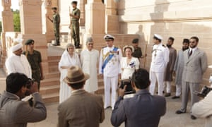 Hugh Bonneville as Lord Mountbatten and Gillian Anderson as his wife, Edwina, in a scene from Viceroy's House.