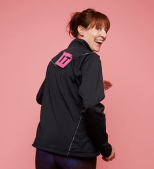 Zoe Williams in jacket with IT on the back