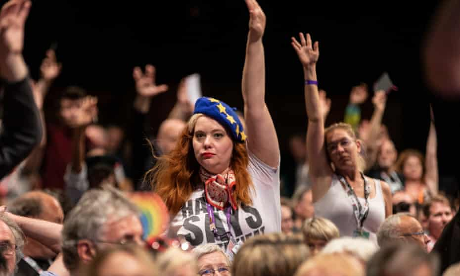 A show of hands … Labour remain campaigners.