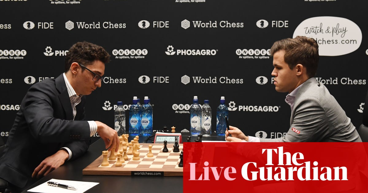 Magnus Carlsen barely saves draw as Fabiano Caruana misses win in Game 6 thriller – as it happened