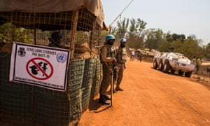 UN peacekeepers from the Pakistan army in Kaga Bandoro, Central African Republic