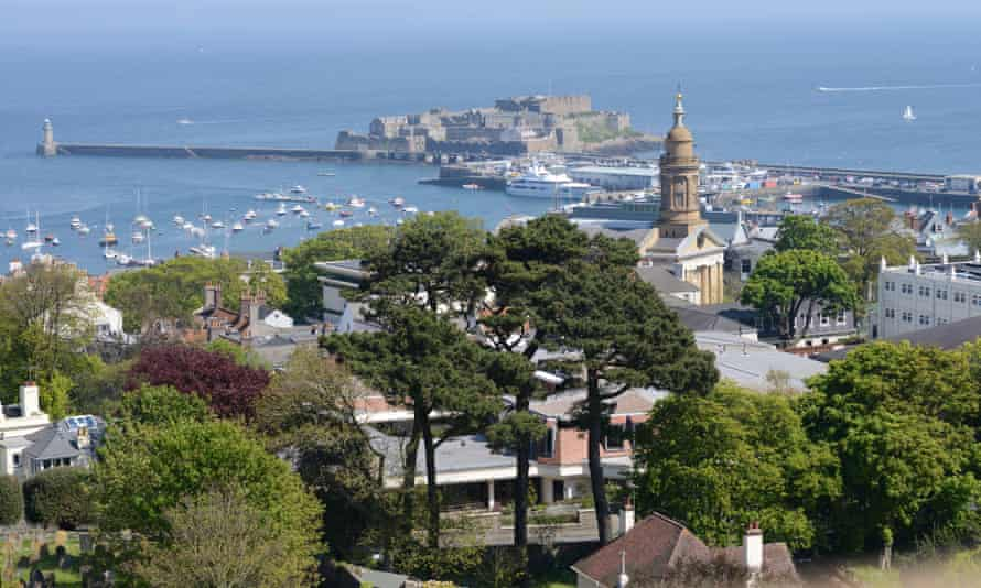 St Peter Port in Guernsey.