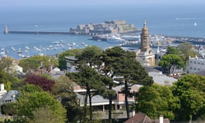 Aerial view of St Peter Port, Guernsey
