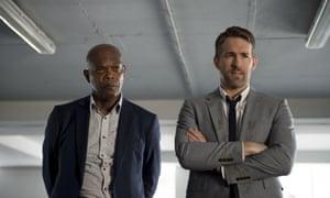 Samuel L Jackson and Ryan Reynolds in The Hitman's Bodyguard