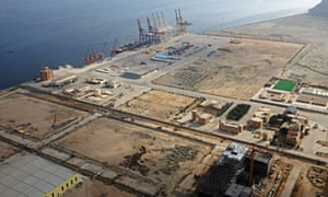 Gwadar's developing port, which will provide China with access to the Indian Ocean and the Arabian Sea.