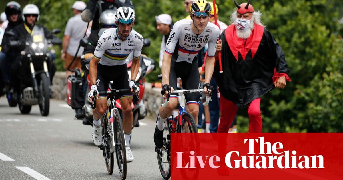 Tour de France: stage 18 into mountains after Bahrain Victorious raid – live!