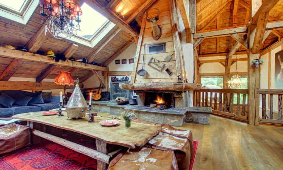 The lounge at La Ferme du Lac Vert
