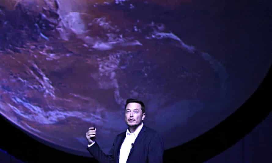 Elon Musk announcing his Mars plans.